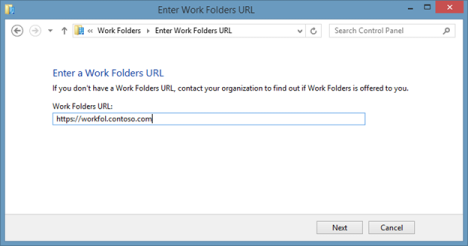 Windows 8.1, Work Folders, Set Up