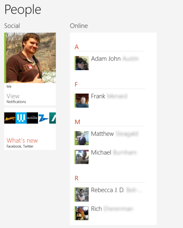 Windows 8 - How to Sort & Manage Contacts in the People App
