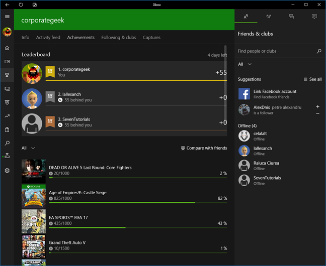 Windows 10, Xbox, app