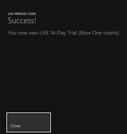 xbox one, activate, gold trial, game, subscription, QR code