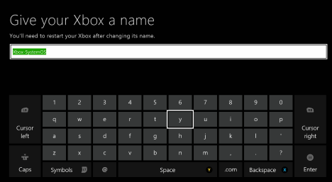 Xbox One, name, change, rename, console