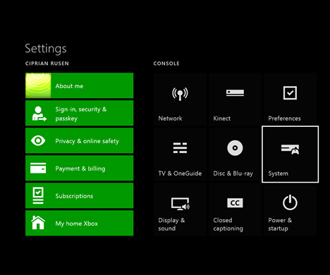 Xbox One, version, operating system, serial number, console ID, Xbox Live device ID