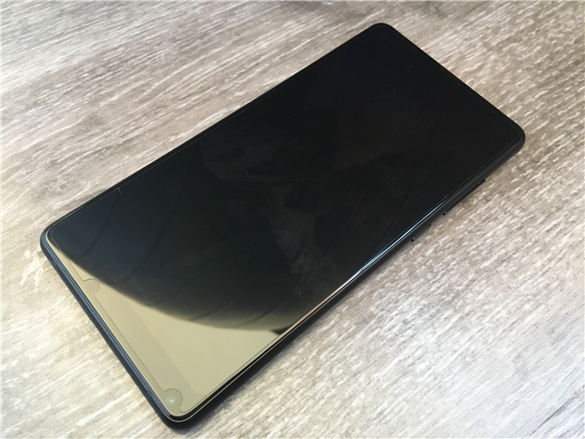 The Xiaomi Mi Mix 2 with its screen off