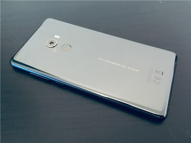 The back of the Xiaomi Mi Mix 2