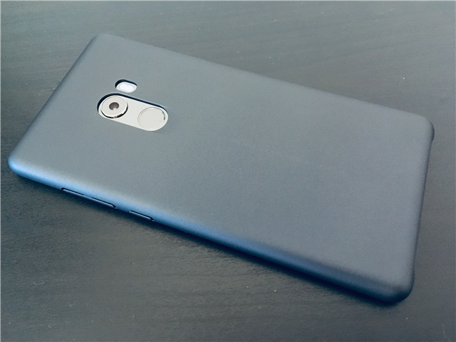 The Xiaomi Mi Mix 2 with its bundled protective cover