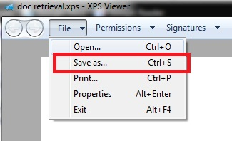 How to Handle XPS Files with the XPS Viewer in Windows 7 or Windows 8