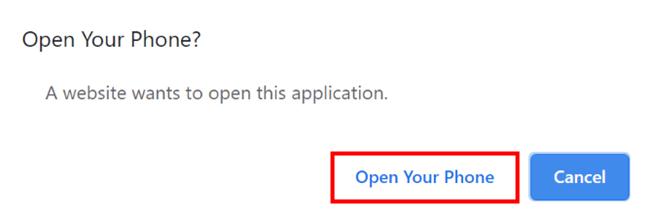 Abra su teléfono desde el navegador