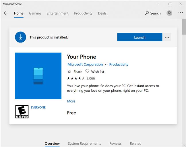 Tu teléfono está disponible en Microsoft Store