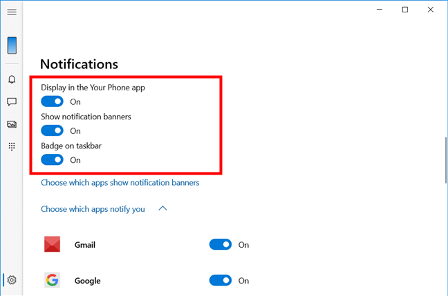 Settings for Your Phone Notifications