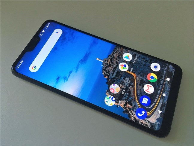 A view of the ASUS ZenFone Max Pro (M2)