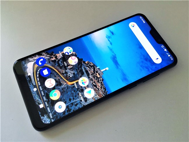 A view of the screen on the ASUS ZenFone Max Pro (M2)
