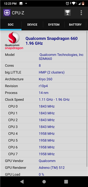 ASUS ZenFone Max Pro (M2) uses a Snapdragon 660 chipset