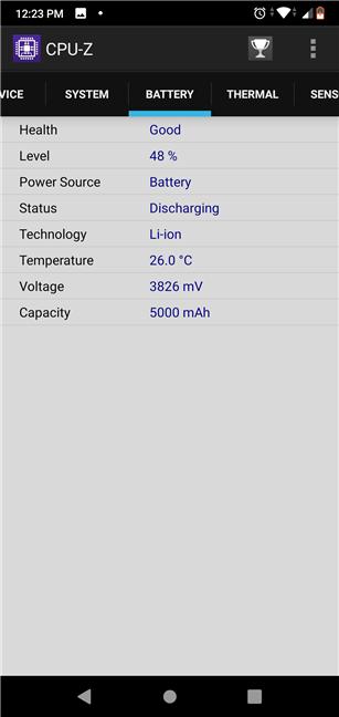 ASUS ZenFone Max Pro (M2): Battery details