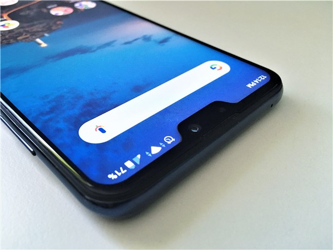 The notch found on the ASUS ZenFone Max Pro (M2)