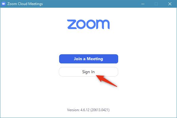 Inicie sesión en Zoom con la aplicación de escritorio Zoom