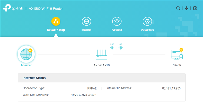 The firmware on the TP-Link Archer AX10