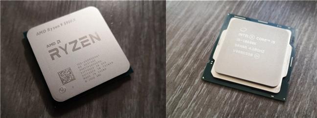 An AMD Ryzen processor versus an Intel Core processor