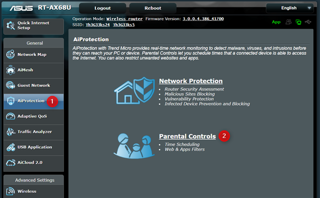 Access Parental Controls on your ASUS router