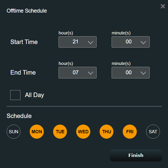 Customize the Offline Schedule