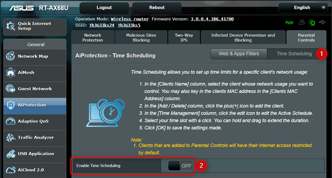 Enable Time Scheduling on your ASUS router