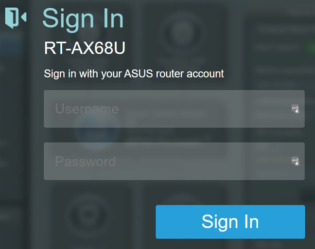 Login to your ASUS router or mesh Wi-Fi