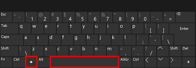 How to change the language on keyboard using Win + Spacebar