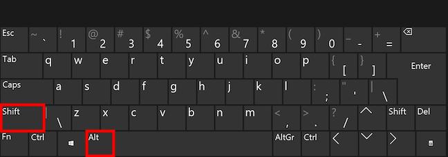The change keyboard language shortcut in Windows 10