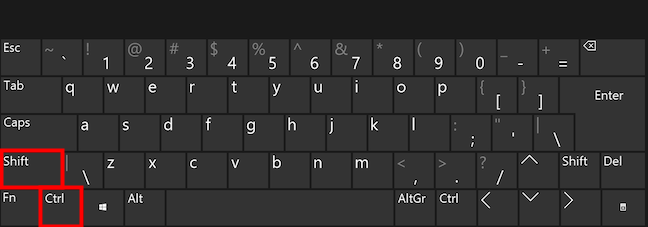 The keyboard shortcut to switch the layout