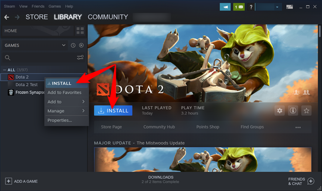 Install a game to pin it to Start in Windows 10