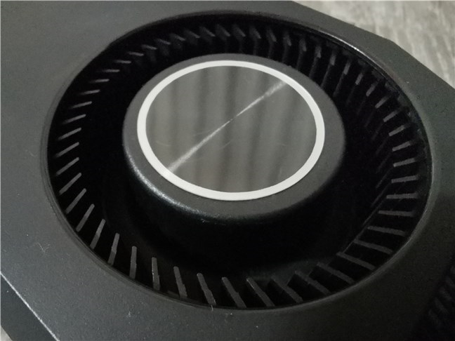 The blower fan used by the ASUS Turbo GeForce RTX 3070