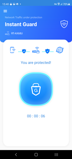 The Instant Guard app works with ASUS RT-AX68U