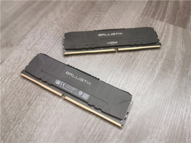 The Crucial Ballistix Gaming Memory DDR4-3600 32GB RAM modules