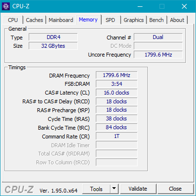 Details shown by CPU-Z