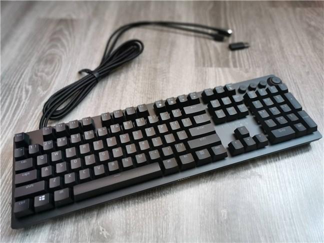 The Razer Huntsman v2 Analog gaming keyboard