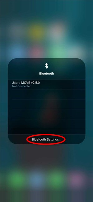 Access Bluetooth Settings