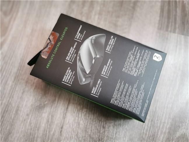 Razer Viper 8KHz: The back of the box