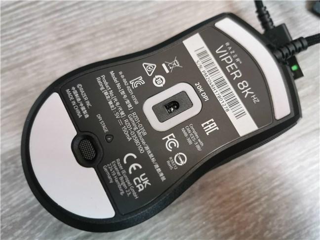 Razer Viper 8KHz: 20000 DPI sensor and 8000 Hz polling rate