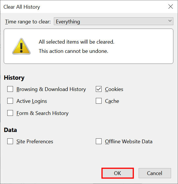 How to delete cookies on Firefox completely