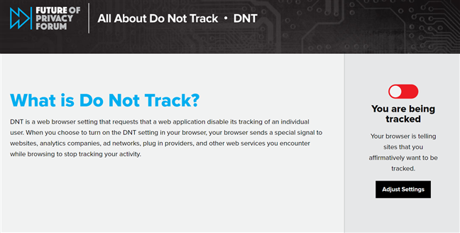 Find out if your browser sends Do Not Track requests