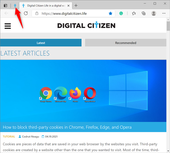 Your pinned tabs are smaller and shown first