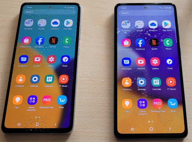 Both smartphones can withstand a few rain drops