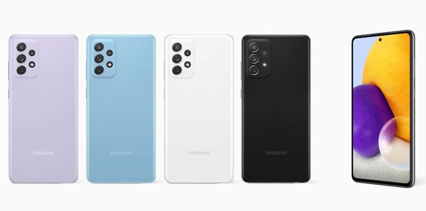 The colors available for Samsung Galaxy A72