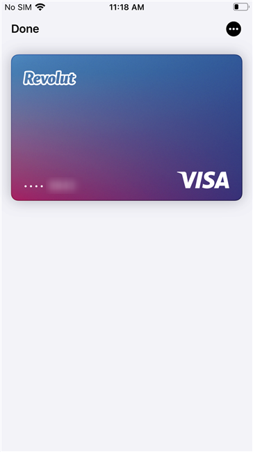 A card enrolled in Apple Pay