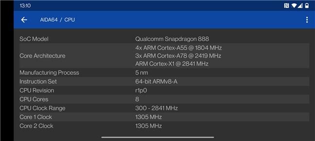 OnePlus 9: CPU details