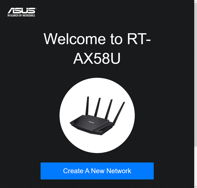 Your ASUS router is ready to be configured again