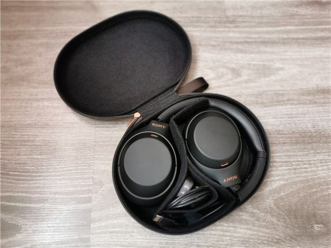 Sony WH-1000XM4 inside its case