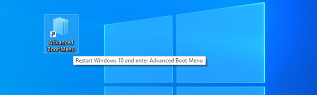 Download a shortcut to Windows 10's Recovery Mode Environment (Advanced Boot Menu)
