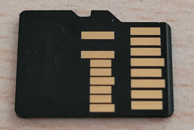 UHS-II class microSD cards have a second row of pins