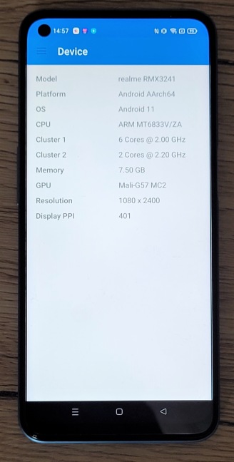 The hardware inside the realme 8 5G