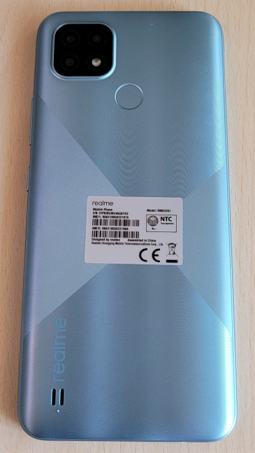 The back of the realme C21